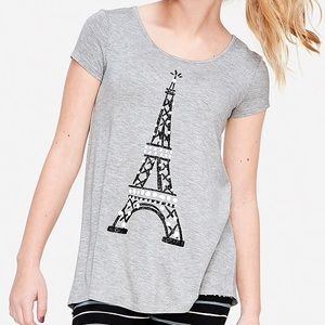 Justice Girls swingy tee top NEW EIFFEL TOWER